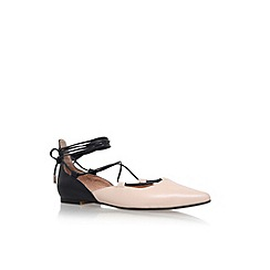 KG Kurt Geiger - Black Leather 'Larissa' flat ballerina pumps