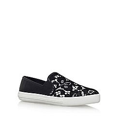 KG Kurt Geiger - Black 'Laguna' flat slip on sneakers