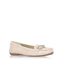Anne Klein - Gold 'noris' flat loafer shoe