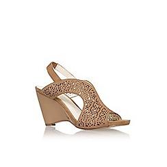 Anne Klein - Tan 'Olisa' mid heel wedge sandal