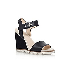 Nine West - Black 'gronigen' high heel wedge sandal