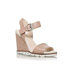 Nine West - Brown 'gronigen' high heel wedge sandal