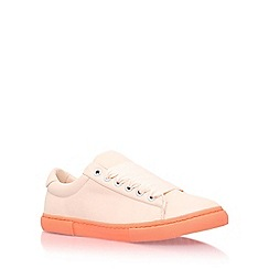 Miss KG - Natural 'lotus' flat lace up sneaker