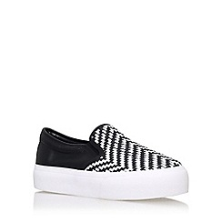 Miss KG - Black luna flat slip on sneaker
