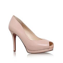 Nine West - Natural 'Firstbase' high heel peep toe court shoe