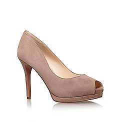 Nine West - Brown 'Firstbase' high heel peep toe court shoe