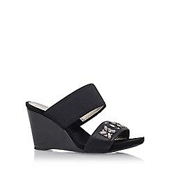 Anne Klein - Black 'lailah2' mid heel wedge sandal