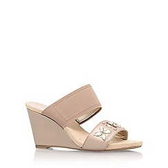 Anne Klein - Brown 'lailah2' mid heel wedge sandal
