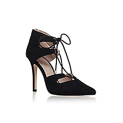 Carvela - Black 'Kayleigh' high heel lace up court shoe