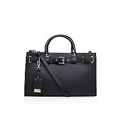 Carvela - Black 'Jem Belted' tote handbag with shoulder straps