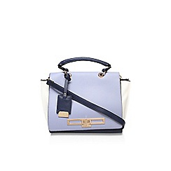 Carvela - Blue 'jasmine' lock bag large handbag with shoulder strap