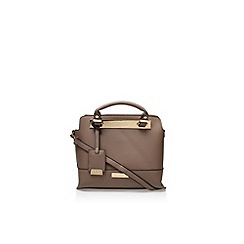 Carvela - Brown 'edee' structured tote bag large handbag with shoulder strap