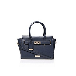 Carvela - Blue 'joanna' belted bag with shoulder strap