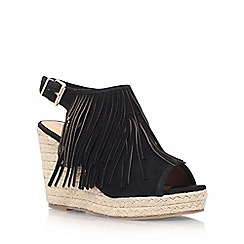 Miss KG - Black 'Peyton' high wedge sandal