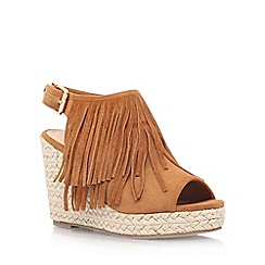 Miss KG - Brown 'Peyton' high wedge sandal
