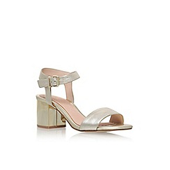 KG Kurt Geiger - Light gold 'Nora' mid heel sandal