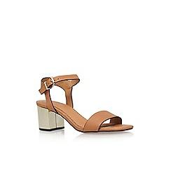 KG Kurt Geiger - Brown 'Nora' mid heel sandal