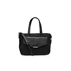 Nine West - Black 'Claudette' Satchel tote with shoulder strap