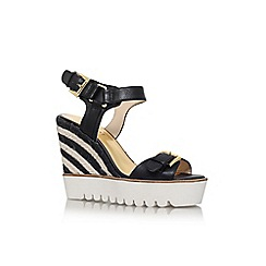 Nine West - Black 'aprilshower' high wedge heel sandal