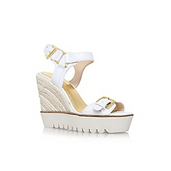 Nine West - White 'aprilshower' high wedge heel sandal