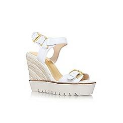 Nine West - White 'aprilshower' high wedge heel sandal