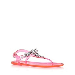 Lipsy - Pink 'Gloss' flat toe post sandals