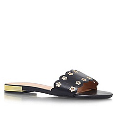 Nine West - Black 'Frogprince' low heel slip on sandal