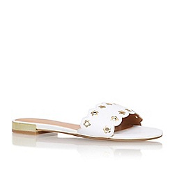 Nine West - White 'frogprince' flat slip on sandals