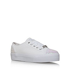 Lipsy - White 'Amie' flat lace up sneakers
