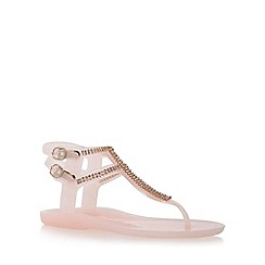 Lipsy - Natural 'gemma' flat toe post sandal
