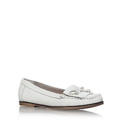 Carvela - White 'Mock' flat loafers
