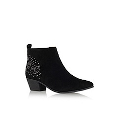 Nine West - Black 'Twinsie' low heel ankle boot