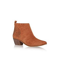 Nine West - Brown 'Twinsie' low heel ankle boot