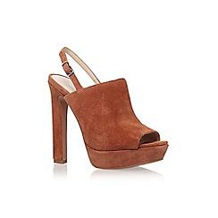 Nine West - Brown 'lailah' high heel slingback shoe
