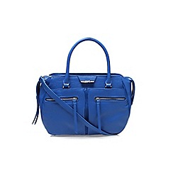 Nine West - Blue 'Just zip it satchel' large handbag with shoulder strap
