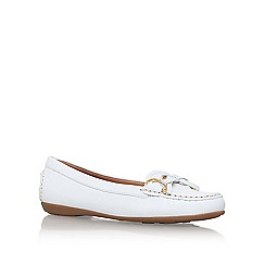 Carvela Comfort - White 'cally' flat slip on loafer