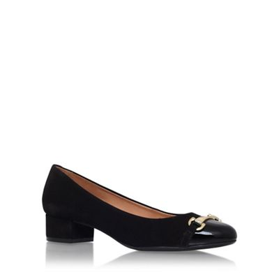 Carvela Comfort Black annie low heel court shoe