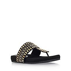 Carvela Comfort - Black 'Sunshine' flat sandal