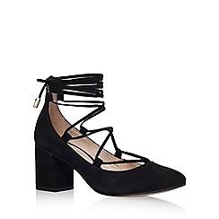 Carvela - Black 'Aid' low heel lace up court