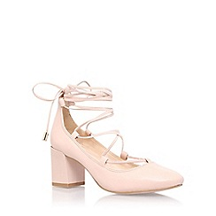 Carvela - Pink 'aid' high heel court shoe with ankle lace