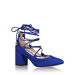 Carvela - Blue 'aid' high heel court shoe with ankle laces