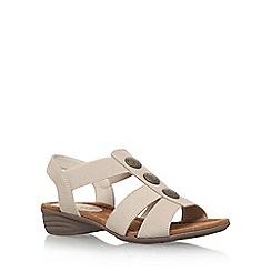 Carvela Comfort - Beige 'Scatter' low heel sandal
