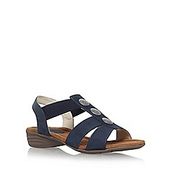 Carvela Comfort - Blue 'Scatter' low heel sandal