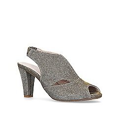 Carvela Comfort - Metallic 'Arabella' mid heel sandals