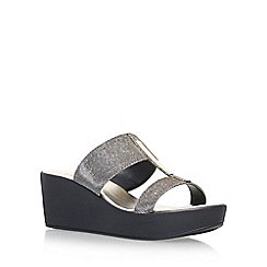 Carvela Comfort - Grey 'Sapphire' high heel wedge sandals