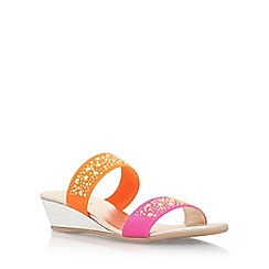 Carvela Comfort - Multicoloured 'Sage' mid heel wedge sandals
