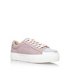 Miss KG - Pink 'Loco' Flat Lace Up Sneakers