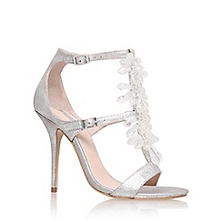 Carvela - Silver 'Granite' high heel sandals