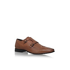 KG Kurt Geiger - Brown 'elstree' double monk buckle shoe