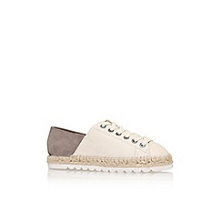 Nine West - White 'nonchalant' flat lace up sneaker